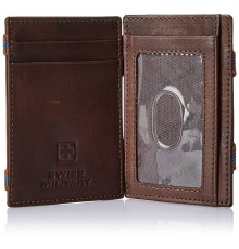 SWISS MILITARY GENUINE LEATHER MAGIC FLIP WALLET LW-13